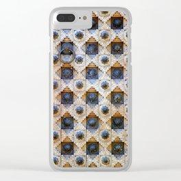 Wood Door Texture Clear iPhone Case
