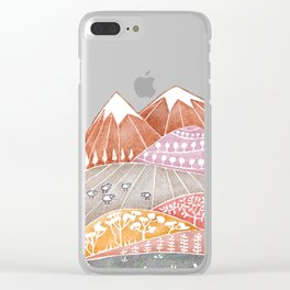 Tatry mountains, sheep watercolor landscape nature Clear iPhone Case