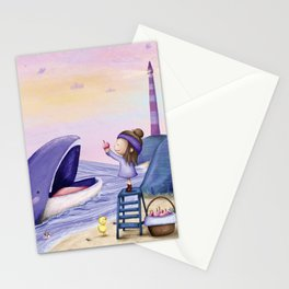 Little Kiki and the Whale Stationery Cards