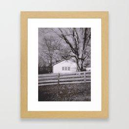 Kentucky Fence Line Framed Art Print