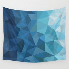 blue geometric Wall Tapestry