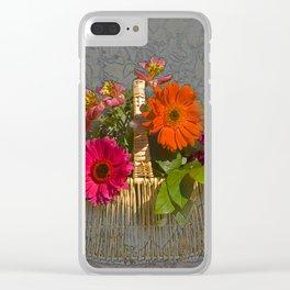 Flower Basket Still Life Clear iPhone Case