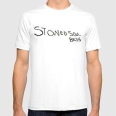 STONED SOUL Mens Fitted Tee SMALL White