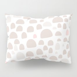 Pastel pink brown pastel color abstract iglo pattern Pillow Sham