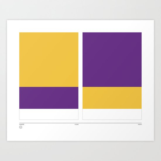 Home&Away Lakers Art Print