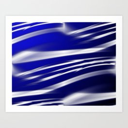 Ocean Flag Of Love and Peace Art Print