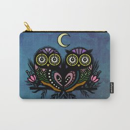 A Perfect Pair Of Midnight Moonlit Owls Carry-All Pouch