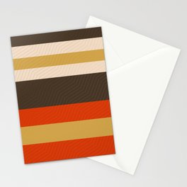 Retro Zigzag Geometric Pattern Stationery Cards