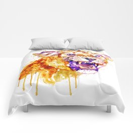 Angry Lioness Comforters