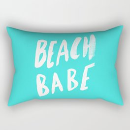 Beach Babe x Teal Rectangular Pillow