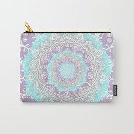 Bohemian Heaven Mandala Purple Blue White Carry-All Pouch