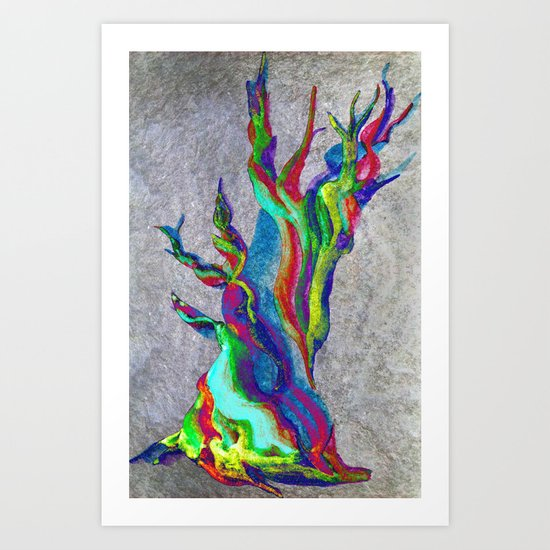Rainbow Tree Art Print