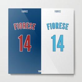 Fabrice Fiorese VS Fabrice Fiorese (Paris VS Marseille) Metal Print
