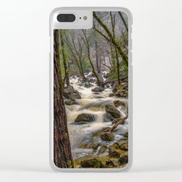 Bridalveil Creek, Yosemite National Park is swollen with snowmelt runoff on an early Spring morning Clear iPhone Case