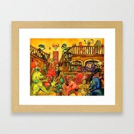 A Town Called Morteville Framed Art Print