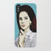 lana del rey iPhone & iPod Cases featuring LANA by DVNJCK