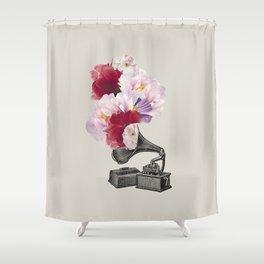 Flower gramophone Shower Curtain