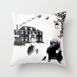 Rich man poor man Throw Pillow