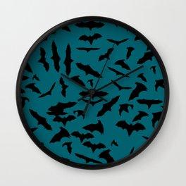 Bats quetzal green Wall Clock