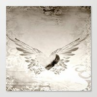 angel wings Canvas Prints featuring angel wings by Mariedesignz