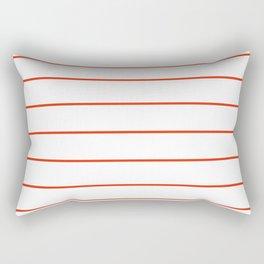 SKINNY STRIPE ((cherry red)) Rectangular Pillow
