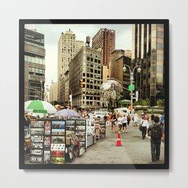 street vendors Metal Print