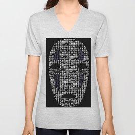 No-Face Mask Typograph Unisex V-Neck