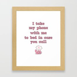 call me! Framed Art Print