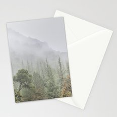 Into the deep forest. Foggy morning Stationery Cards