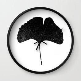 Ginko Leaf Silhouette Wall Clock
