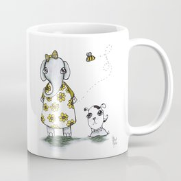 Elephantgirl with dog Coffee Mug