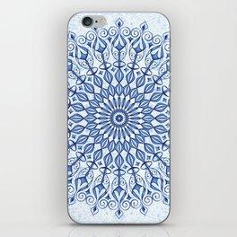 Mandala in  blue iPhone Skin