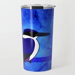 Ultramarine Kingfisher (Todiramphus leucopygius) Travel Mug