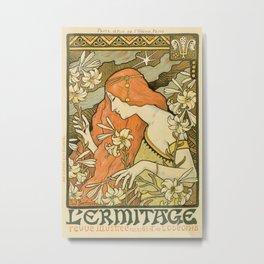 Ermitage Art Nouveau Magazine Metal Print