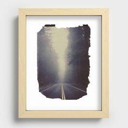 Long Road, Redwoods National Park. Instant Film Recessed Framed Print