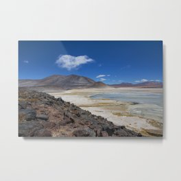 Atacama Salt Lake Metal Print