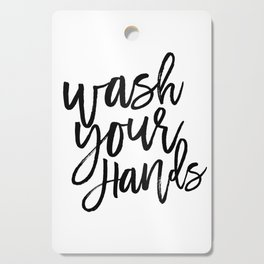 WASH YOUR HANDS, Bathroom Decor,Bathroom Signs, Quote Prints,Kids Gift,Bathroom Rule,Typography Prin Cutting Board