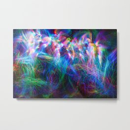 wispy fiber optic light painting Metal Print