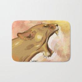 Tiger's howling Bath Mat