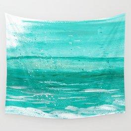 Bleu Wave Rising Wall Tapestry