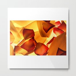 Thrown Petals Metal Print