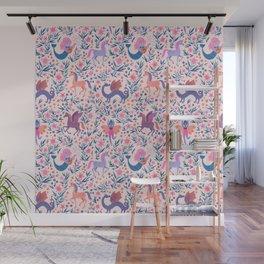 Fairy Folk Floral Wall Mural