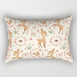 forest animals pattern Rectangular Pillow