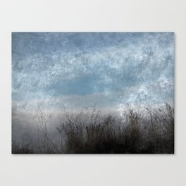 Tall Grass by the Sea in Color Canvas Print