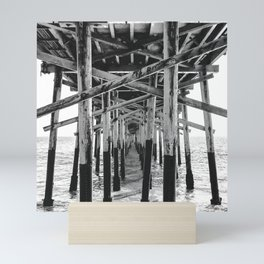 Balboa Pier Print {3 of 3} | Newport Beach Ocean Photography B&W Summer Sun Wave Art Mini Art Print