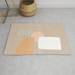Simple shapes boho minimalist design Rug