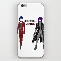 ghost in the shell iPhone & iPod Skins featuring Ghost in the Shell Arise by Krbshadow