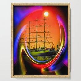 Sailing romance 13 Serving Tray
