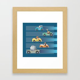 The Great Animal International Invitational Race Framed Art Print