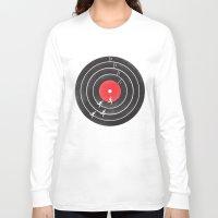 running Long Sleeve T-shirts featuring Vinyl Running by Mateus Quandt